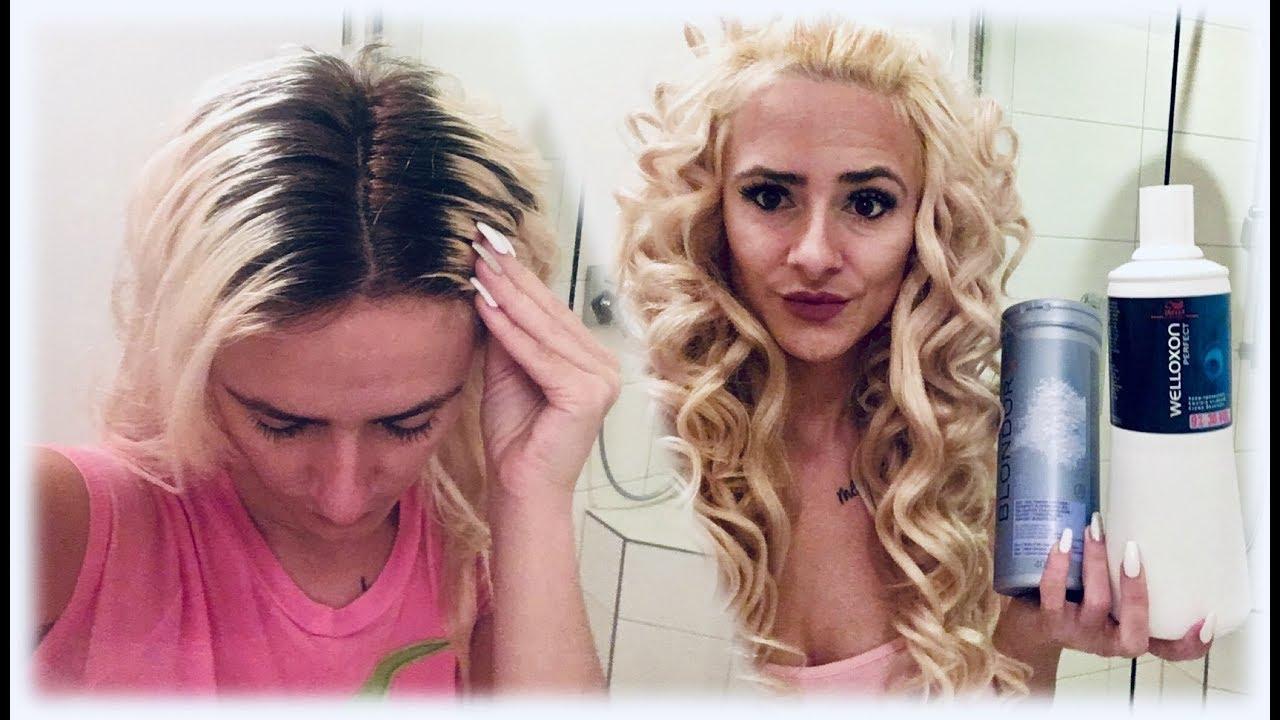 Ansatz selbst färben / Haare blondieren / Meine