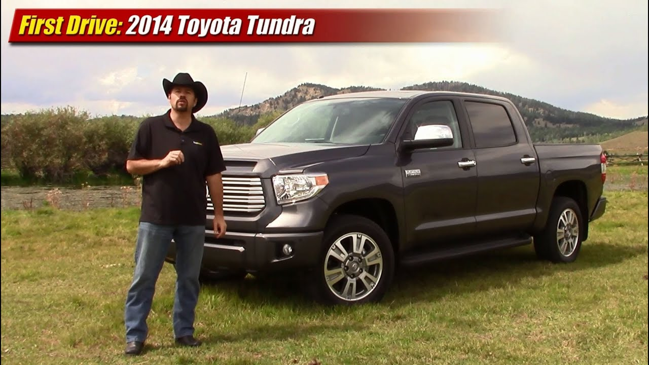 first drive: 2014 toyota tundra platinum crewmax - youtube