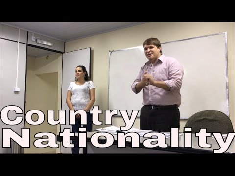 Learn English: Country and Nationality (Level 1 Semester 2)