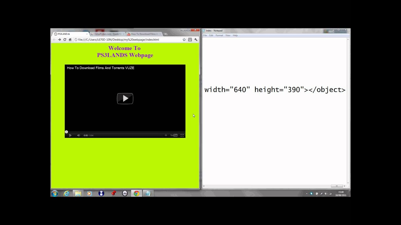 How To Make A Basic Website Using Notepad Part 1 Youtube