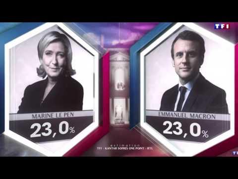Résultat du 1er tour de l'élection présidentielle française 2017 - TF1