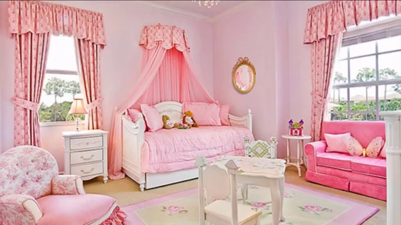 Girls Room Decorating Ideas Part - 43: Baby Girls Bedroom Decorating Ideas - YouTube