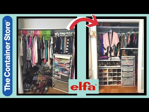 CLOSET MAKEOVER & TOUR ft. elfa (The Container Store) | LesleyyX1