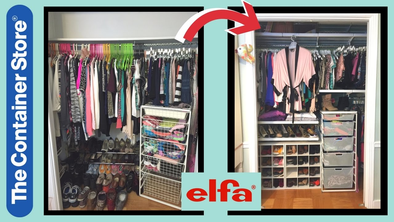 CLOSET MAKEOVER TOUR Ft Elfa The Container Store