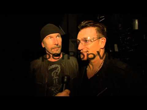 INTERVIEW - Bono and The Edge talk about being humbled to...