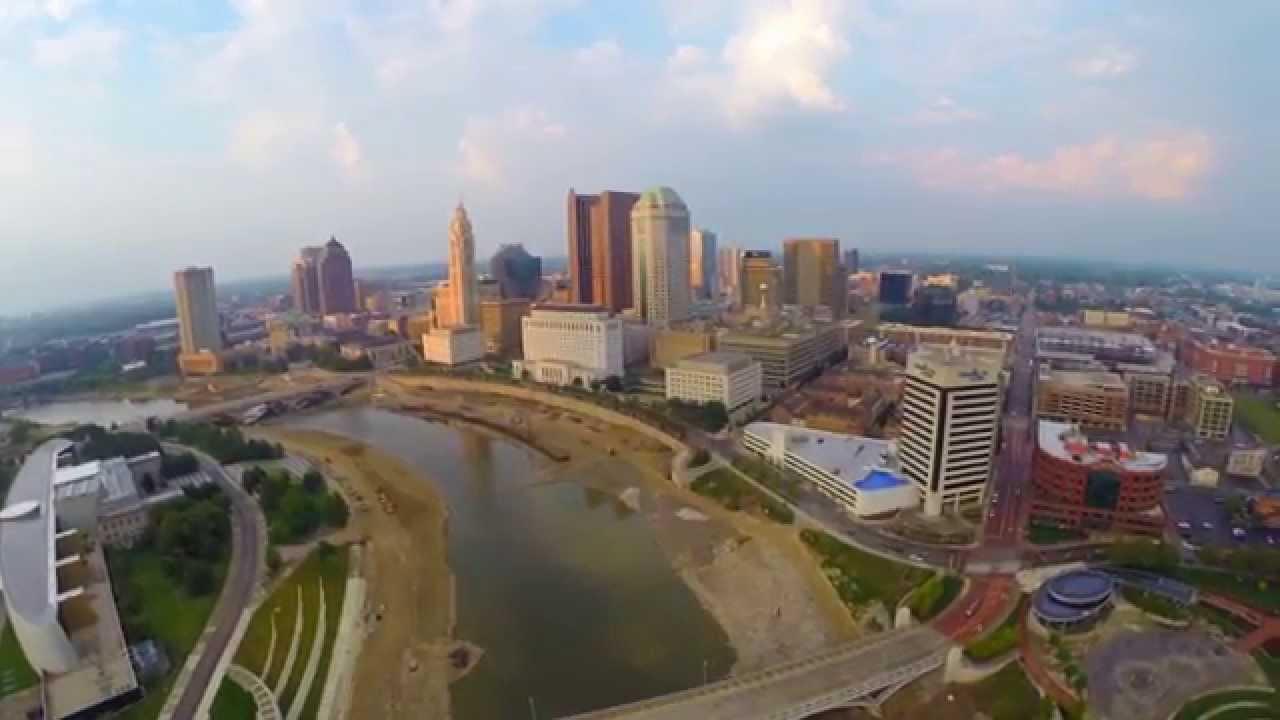 DJI Aerial Drone Footage Of Beautiful Columbus Ohio In HD