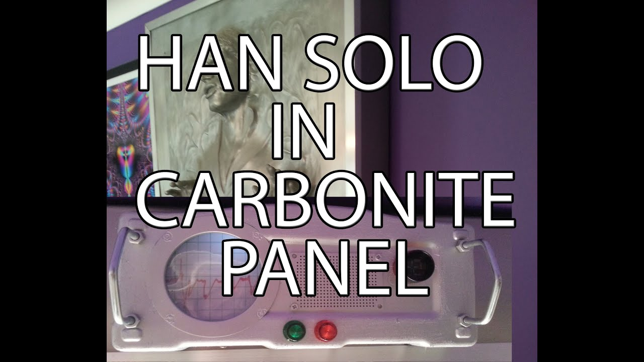 STAR WARS How to make Han Solo in Carbonite side panel on a bud