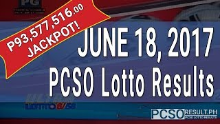 Lotto Result June 18, 2017 (6/58, 6/49, Swertres & EZ2)