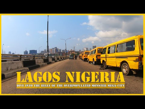 Dive into the belly of Africa's most populated city : Lagos Nigeria - overcrowded mega-city markets