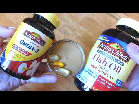 Nature Made Omega-3 Mini Vs Full Size Fish Oil