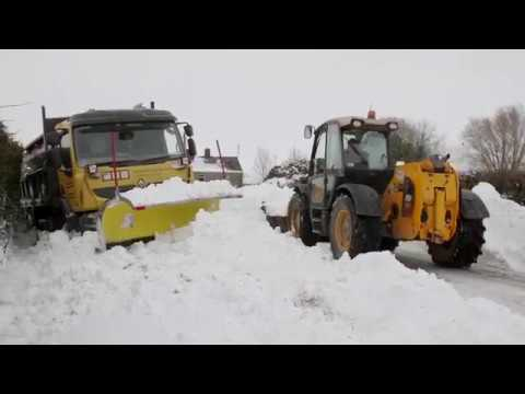 Snow plough rescued by local farmers