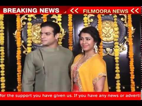Karan Patel With Wife Ankita Bhargava at Ekta Kapoor Diwali Party 2018