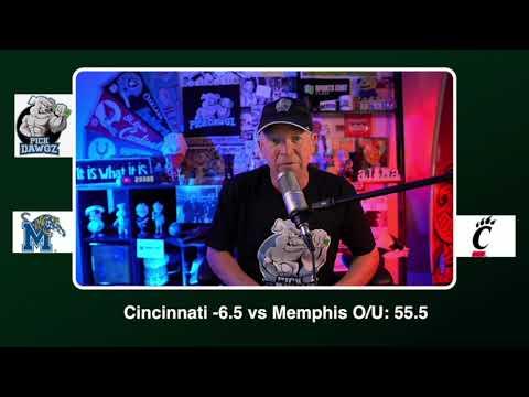 Cincinnati vs Memphis Free College Football Picks and Predictions CFB Tips Saturday 10/31/20