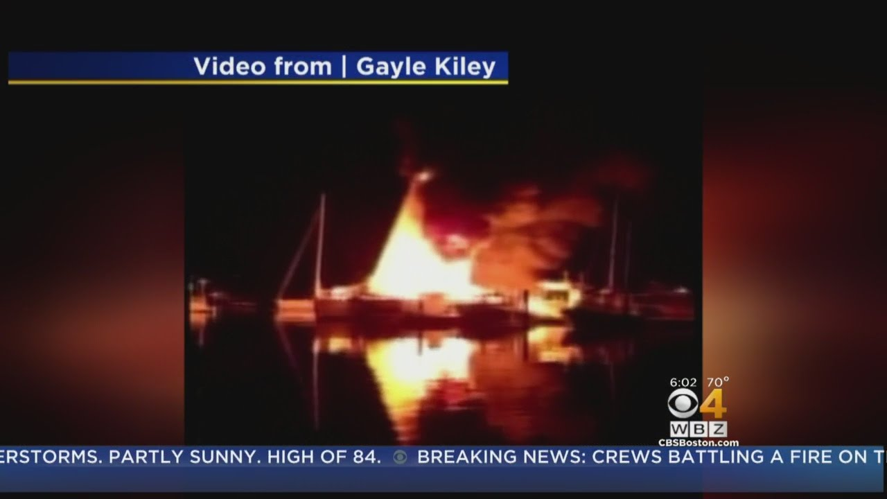 Huge Falmouth Boat Fire Leaves Person With Serious Burns