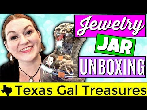 Goodwill Jewelry Jars - A Waste of Money? Jewelry Jar Unboxing