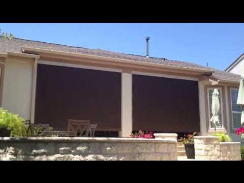 Manual Outdoor Patio Screen Shades Austin Texas