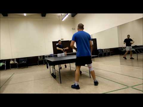 Professor of Hand Dynamics (PhD) preaching Ping Pong at Hamburg Dorms