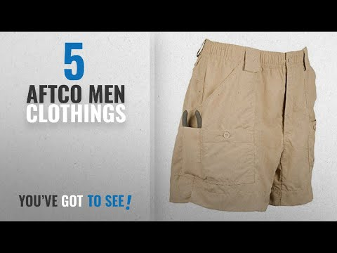 Top 10 Aftco Men Clothings [ Winter 2018 ]: AFTCO Original Fishing Shorts (34, Khaki)