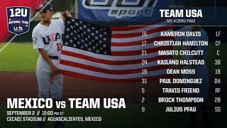 USA BASEBALL12U Kibru Pam Pitching 2018 Pan American Gold Medal Final Baseball Final USA V Mexico