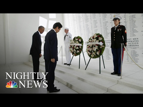 Japanese PM Shinzo Abe Pays Respects At Pearl Harbor Memorial | NBC Nightly News