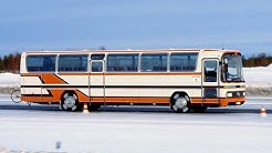 Testing the anti-lock braking system on Mercedes trucks and buses, late 1970s