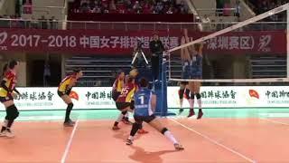 2017-2018 China Volleyball League 16th Round YUAN Xinyue Highlights