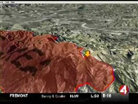 Southern California Fires: 3D Map