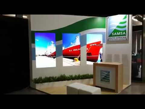 Exhibition Stand Poster Design : Lcd digital poster wall done for samsa exhibition stand youtube