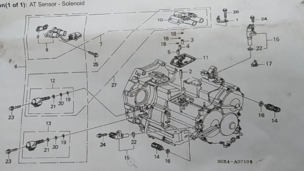 small resolution of transmission solenoids 2000 honda odyssey