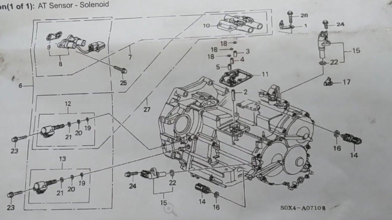 transmission solenoids 2000 honda odyssey [ 1280 x 720 Pixel ]