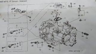 Transmission Solenoids 2000 Honda Odyssey Youtube