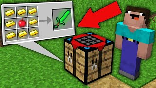 Minecraft NOOB vs PRO: ONLY THIS CRAFTING TABLE CRAFTED RAREST RANDOM ITEMS! Challenge 100% trolling