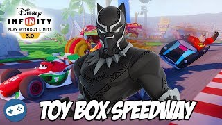 Black Panther Disney Infinity 3.0 Toy Box Speedway Gameplay