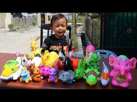 Belajar Nama Dan Suara Binatang Untuk Anak - Unboxing Mainan Binatang Liar & Binatang Ternak