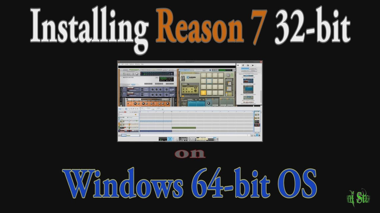 Reason 7 install 32 bit on a 64 bit windows os rewire youtube - Open office download for windows 7 64 bit ...