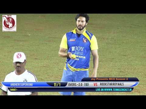 Rockstare royals vs andheri royals |Mumbai Cricket Stars Season - 2