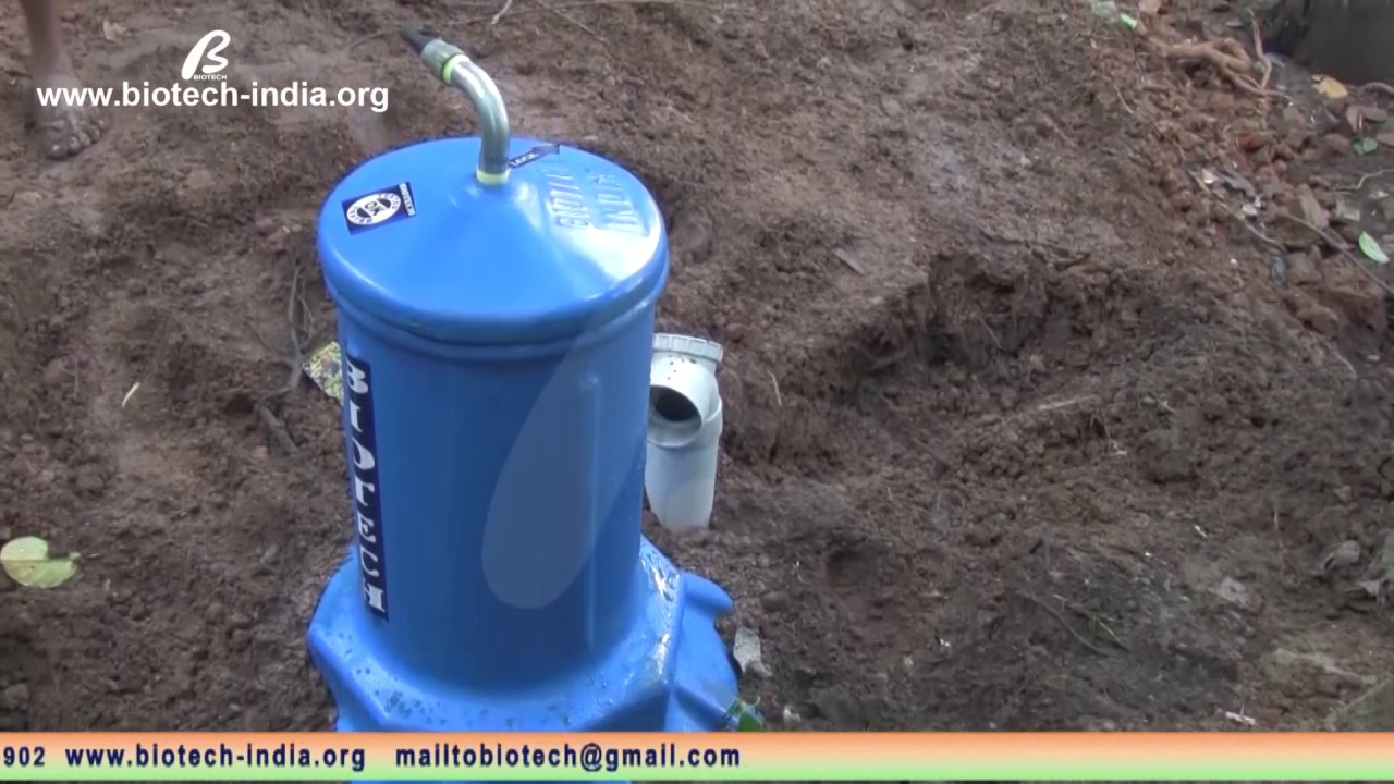 Biotech Septic Tank Biogas Plant Or Gobar Gasplant Diagram Urdu Download Renewable Energy