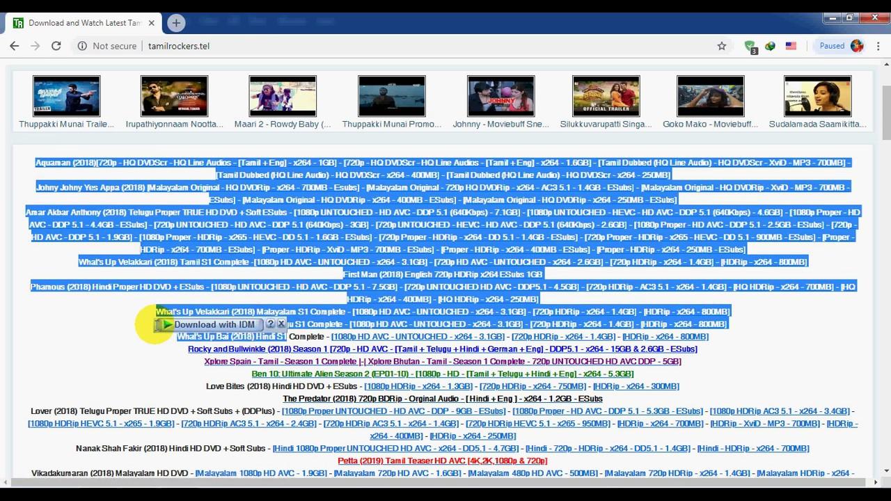 How To Open BLOCKED TAMILROCKERS Website