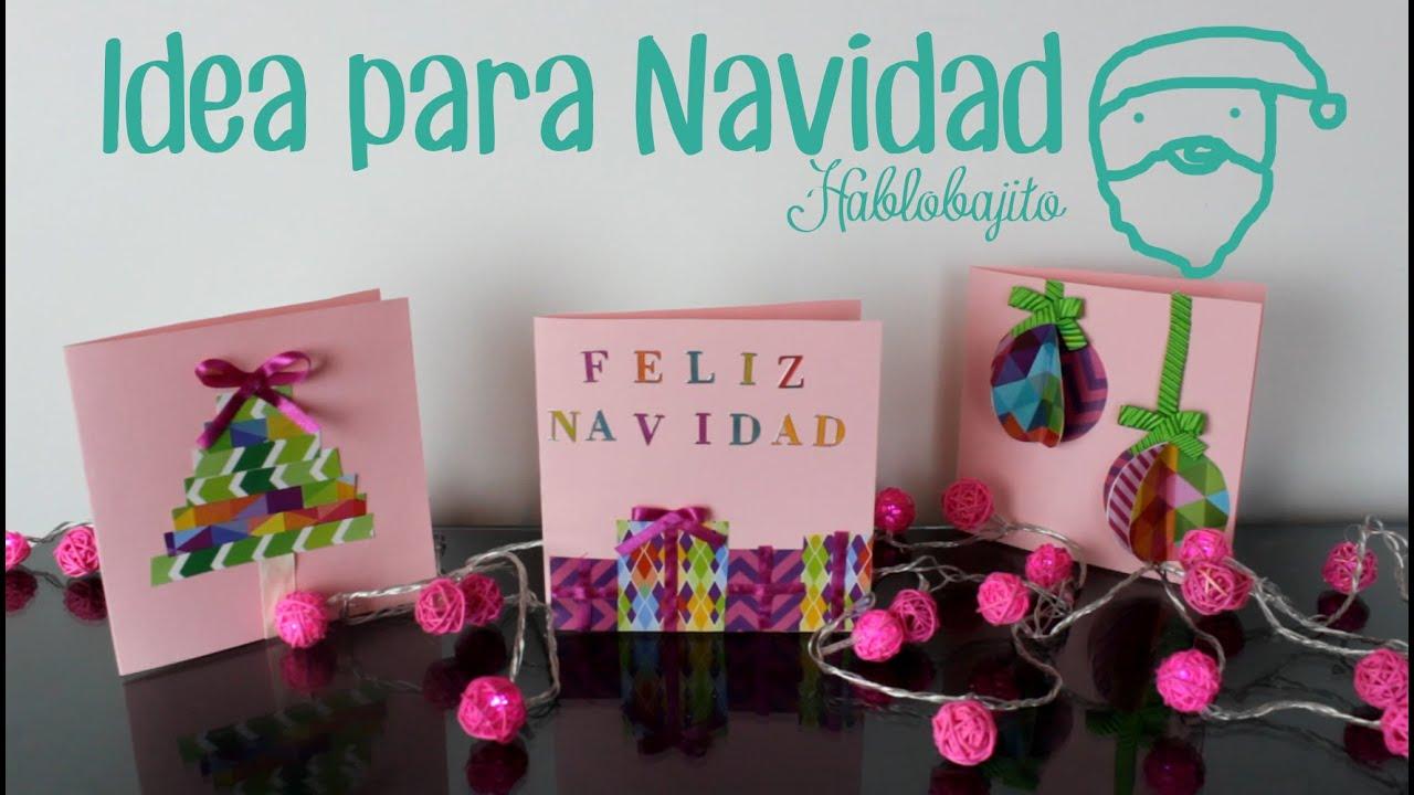 tarjetas para regalar en navidad ideas para hacer tarjetas de navidad hablobajito youtube