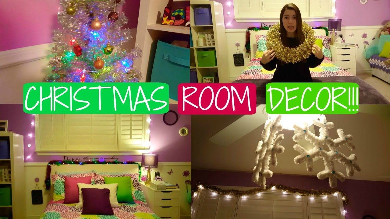 HOLIDAY ROOM MAKEOVER! ♡ ROOM DECOR FOR CHRISTMAS!! - YouTube