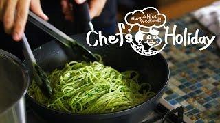 パスタのプロが教えるバジルたっぷり「ジェノベーゼ」の作り方:How to Make Spaghetti all'Genovese   Chef's Holiday thumbnail