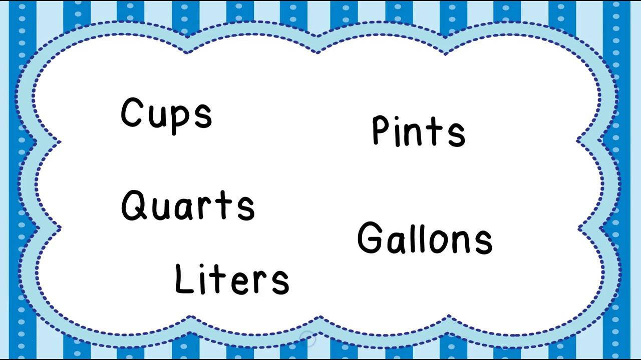 Measuring Liquids Customary And Metric Measurement Mr Pearson