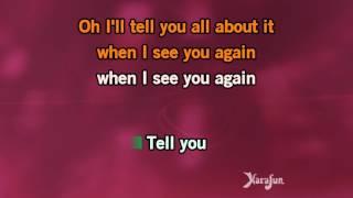 Charlie Puth ft. Wiz Khalifa - See You Again [KARAOKE]
