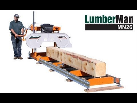 Norwood LumberMan MN26 Portable Band Sawmill - Ideal for Hobbyists