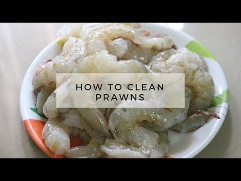 How to Clean Prawns in tamil