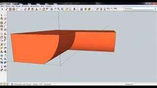 SketchUp, резка криволинейных поверхностей