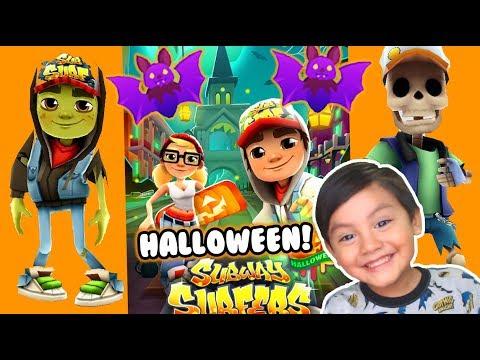 Subway Surfers en Halloween   Ciudad de Halloween   Juegos para niños