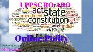 Online polity model test paper for uppsc ro/aro (exam date 8 april 2018) by awillguru