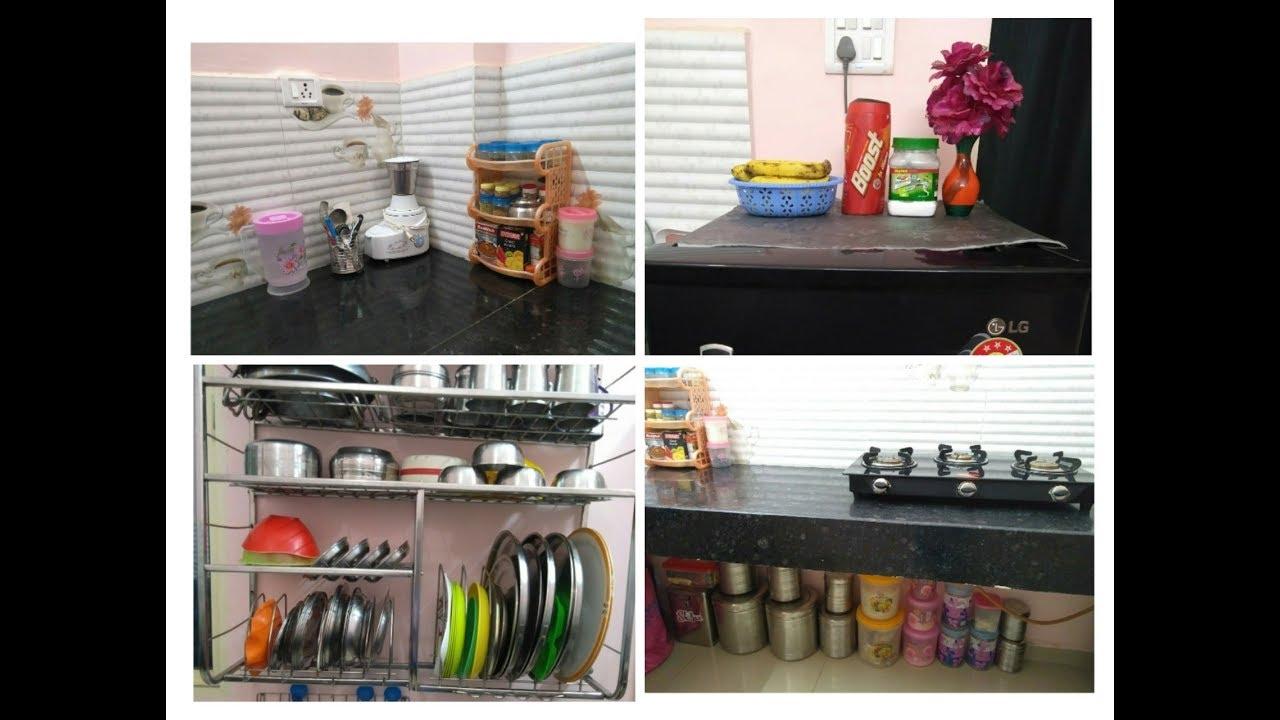 Indian Non Modular Kitchen Tour    Kitchen Organisation      YouTube