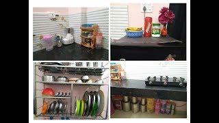 Indian Non Modular Kitchen Tour || Kitchen Organisation ||